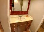 Unit D, Bath 1, vanity